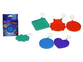 Fun Trading Pop it fidget Pop Fly klein mit Keychain verschiedene Formen