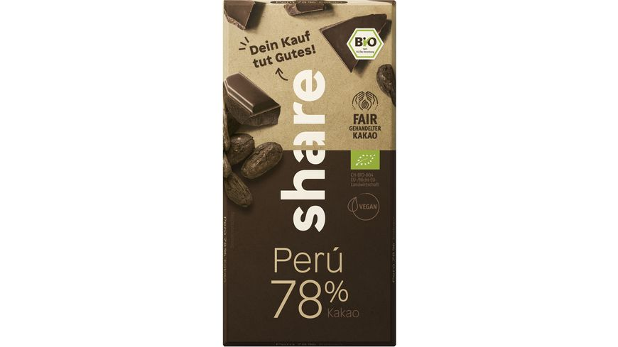 share Bio Schokolade Edelbitter 78% Peru