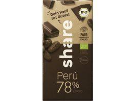 share Bio Schokolade Edelbitter 78 Peru