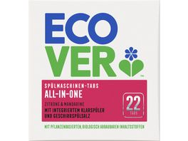 Ecover All in One Spuelmaschinentabs Zitrone 22 Tabs