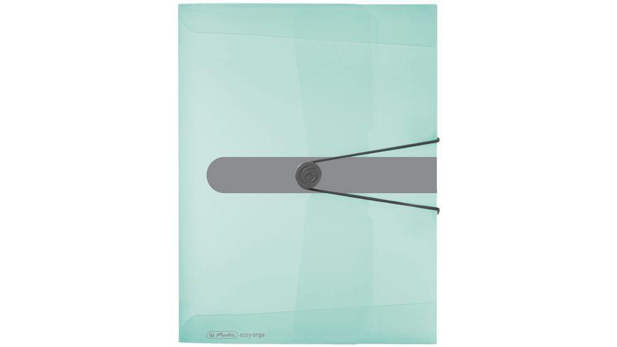 herlitz Sammelbox A4 PP Pastell transparent minze 4cm easy orga to go