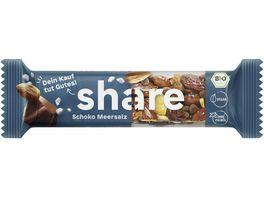 share Bio Nussriegel Dunkle Schokolade Meersalz
