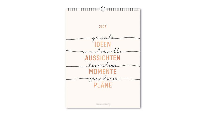 """GRAFiK WERKSTATT Wochenkalender 2022 """"Zufälle - Chancen - Träume"""""""
