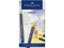FABER CASTELL Farbstift Goldfaber 12 Metalletui