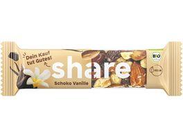 share Bio Nussriegel Schoko Vanille