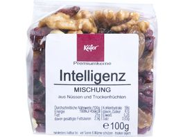 Kaefer Intelligenz Mischung aus Nuessen und Trockenfruechten