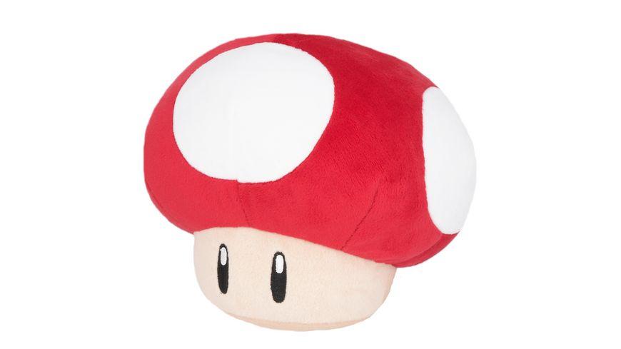 Nintendo Plüschfigur Super Pilz rot