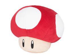 Nintendo Plueschfigur Super Pilz rot