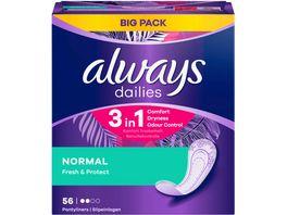 Always Slipeinlagen Fresh Protect Normal BigPack 56ST