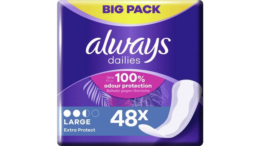 Always Slipeinlagen Extra Protect Large BigPack 48ST