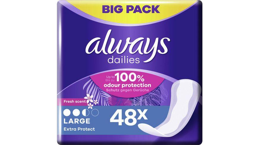 Always Slipeinlagen Extra Protect Large Fresh BigPack 48ST