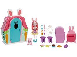 Enchantimals Haeuschen Spielset mit Bree Bunny Puppe