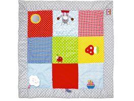 Krabbeldecke mit Spielelementen BabyGlueck ca 100 x 100 cm