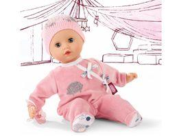 Goetz Muffin Igel Babypuppe ohne Haare mit blauen Schlafaugen 33 cm
