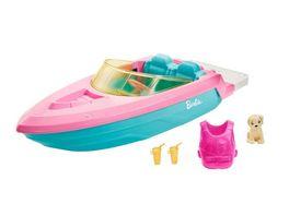 Barbie Boot Spielset inkl Haustier Huendchen und Zubehoer