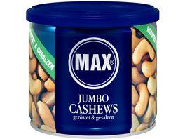 MAX Jumbo Cashews Geroestet Gesalzen