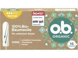 o b Organic Tampons Normal