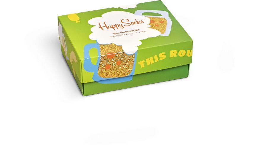 Happy Socks Herren Socken Giftbox Beer 2er Pack