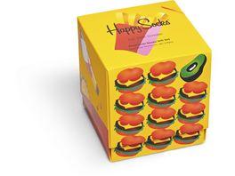 Happy Socks Herren Socken 3er Pack Giftbox Food