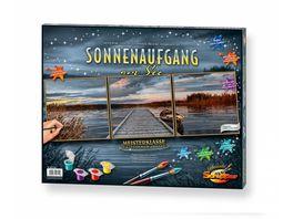 Schipper Malen nach Zahlen Motiv Gruppe Triptychon Sonnenaufgang am See Triptychon Malen nach Zahlen Vorlage