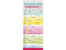 Familienplaner Farbenspiel 2022 19x47cm