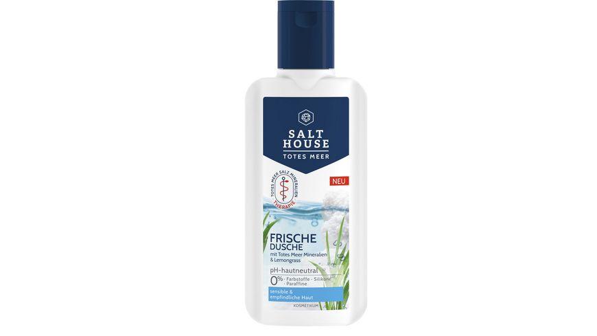 SALTHOUSE Totes Meer Therapie Frische Dusche mit Totes Meer Mineralien, Meeres-Algen & Lemongrass-Extrakt
