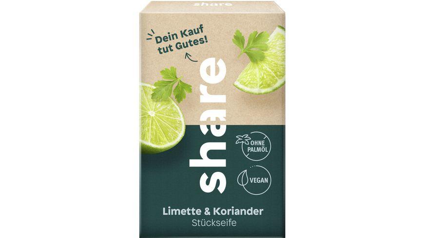 share Stückseife Limette & Koriander