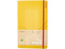 share A5 Journal Notizbuch A5 gelb punktkariert