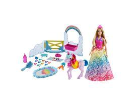 Barbie Dreamtopia Prinzessin Puppe inkl Einhorn mit Farbwechsel Set