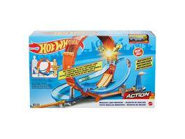 Hot Wheels Looping Crash Trackset inkl 1 Spielzeugauto motorisierte Autorennbahn