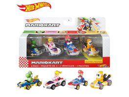 Hot Wheels Mario Kart Die Cast 4er Pack GWB38