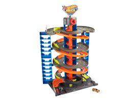 Hot Wheels City Parkgarage Spielset inkl 1 Spielzeugauto Zubehoer