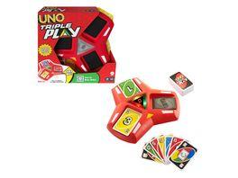 Mattel Games UNO Triple Play Kartenspiel Gesellschaftsspiel