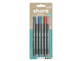 share Fineliner 6er Set