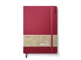 share A5 Journal Notizbuch A5 gruen punktkariert