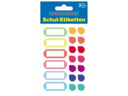 PAP ART Schulbuch Etiketten Tropfen Papier