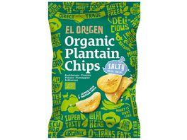 el origen Bio Kochbananen Chips mit Meersalz