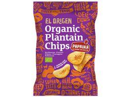 el origen Bio Kochbananen Chips mit Paprika