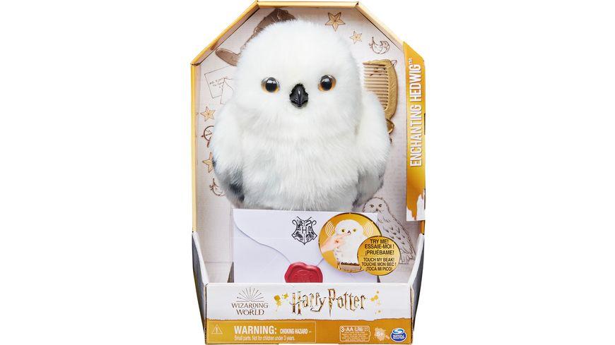 Spin Master - Harry Potter - Interaktive Plüsch-Eule Hedwig mit über 15 Geräuschen und Bewegungen
