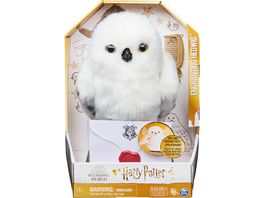 Spin Master Harry Potter Interaktive Pluesch Eule Hedwig mit ueber 15 Geraeuschen und Bewegungen