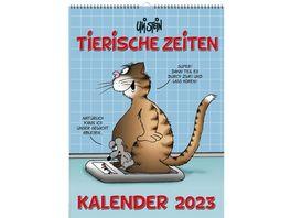 Bildwandkalender Uli Stein Tierische Zeiten 2022