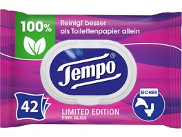 TEMPO Feuchte Toilettentuecher Limited Edition Pink Bliss
