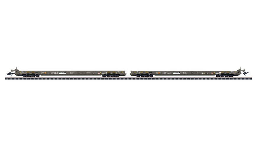 """Märklin 47409 - Spur H0 - Modelleisenbahn Güterwagen-Set """"Rollende Landstraße"""""""