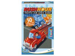 Thinkfun Rush Hour Mitbringspiel Das bekannte Logikspiel im kompakten Format als Reisespiel fuer Kinder und Erwachsenen ab 8 Jahren