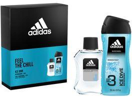 adidas Ice Dive After Shave Body Shower Gel Geschenkset