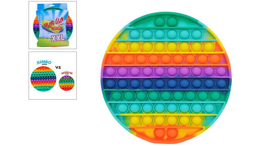 Plop up Fidget Jumbo Regenbogen 20 cm