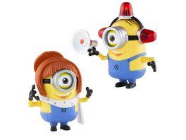 Minion Deluxe 2 in 1 Action Figur Lucy und Feuerwehrmann