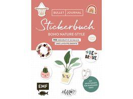 Bullet Journal Stickerbuch Boho Nature Style