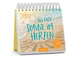 Postkartenkalender 365 Tage Sonne im Herzen 2022