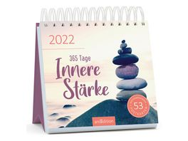 Postkartenkalender Spiralaufsteller 365 Tage Innere Staerke 2022